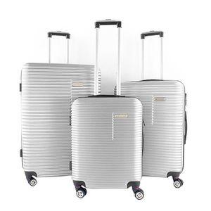 SET DE VALISES Lot de 3 valises rigides 75, 65 et 55 cm Argent AR