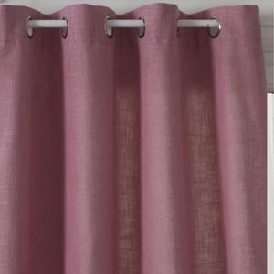 RIDEAU Rideau Uni Esprit Tweed Rose 140 x 260 cm