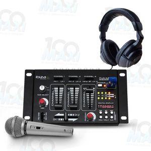 TABLE DE MIXAGE Table de mixage 4 Voies 7 Canaux USB-MP3 + Casque