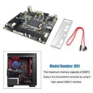 CARTE MÈRE H61 CPU de la carte mère 1155 d'ordinateur de bure