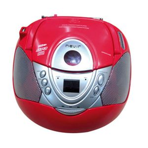 RADIO CD CASSETTE Radio cd mp3 portable nevir nvr-474u rouge