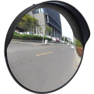 MIROIR DE SÉCURITÉ Miroir convexe d'extérieur noir en plastique 30 cm