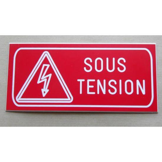 Plaque Gravee Danger Armoire Electrique Sous Tension