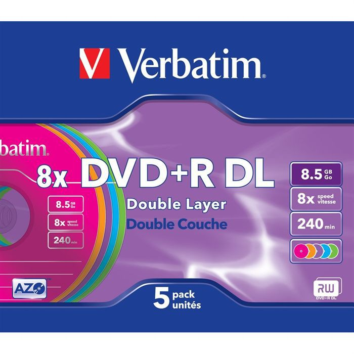 verbatim dvd r 8x achat vente cd dvd vierge verbatim dvd r double couche cdiscount. Black Bedroom Furniture Sets. Home Design Ideas