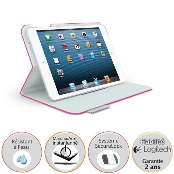 logitech tui ultrathin pour ipad mini retina rose prix pas cher cdiscount. Black Bedroom Furniture Sets. Home Design Ideas