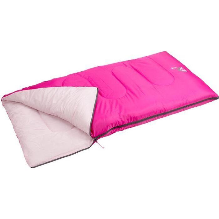 ABBEY CAMP Sac de couchage - Enfant Mixte - 100% polyester 190T - Dimensions : 140 x 70 cm - Rose