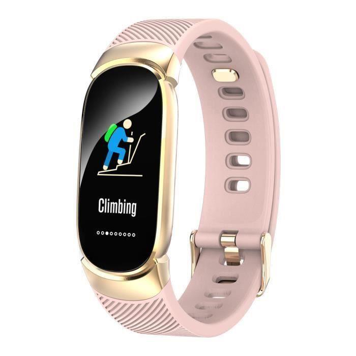 Montre Connectée Femme QW16 0.96-HD Sport Bluetooth Intelligente moniteur de sommeil IP67 -FR