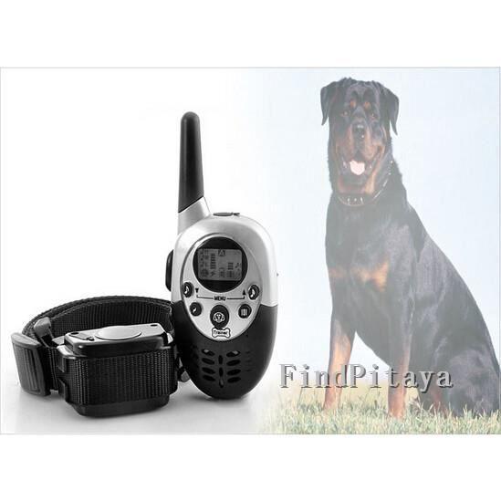 Tera® Collier de dressage électrique rechargeable télécommandé sans fil avec écran LCD à portée de 1000 mètres pour chien