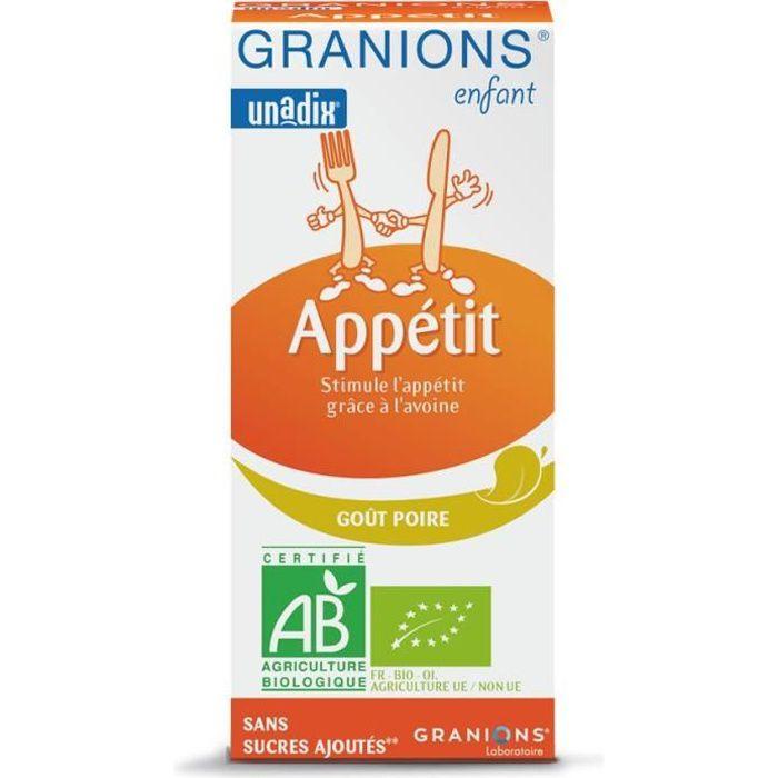 GRANIONS® ENFANT APPETIT ** - POIRE - 125 ML