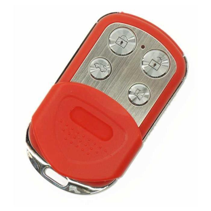 Télécommande Portail Universelle Rouge Copie Directe Code Fixe 433,92 Mhz + Manuel De Programmation