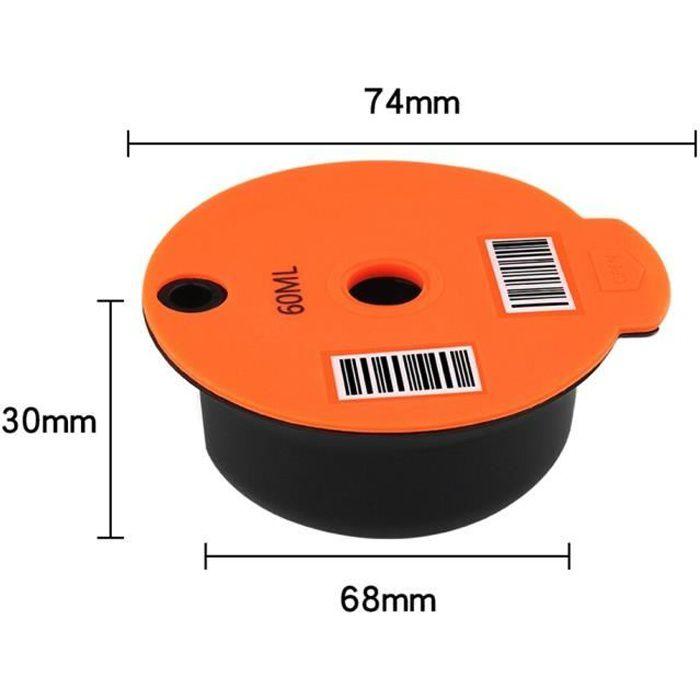 Capsules de café rechargeables et réutilisables, dosettes, Nespresso, couvercle en silicone, compatibles avec Tassimo [C79483D]