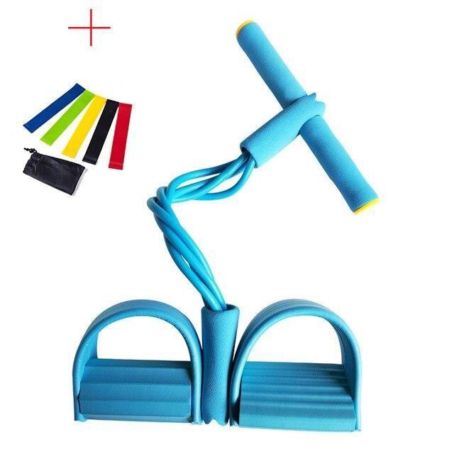 7 PC exercice Fitness résistance bandes ensemble élastique tirer cordes rameur ventre résistance - Modèle: Blue7PC - HSJSTLDB02953