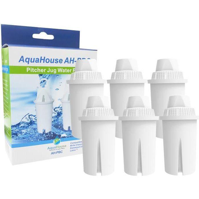 6x AquaHouse filtre compatible pour Brita Classic cartouche filtrante carafes, Kenwood, Laica, PearlCo, Dafi, Universel Classic