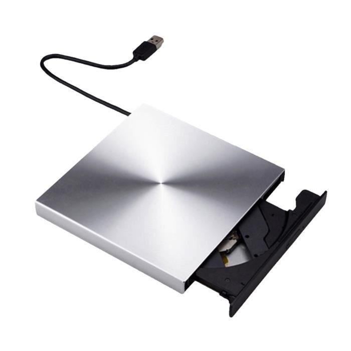 Lecteur CD DVD externe USB 3.0 Lecteur CD DVD +-- RW portable pour Win 7 - 8.1 - 10 PIECE DETACHEE TELEPHONE argent_LR11671
