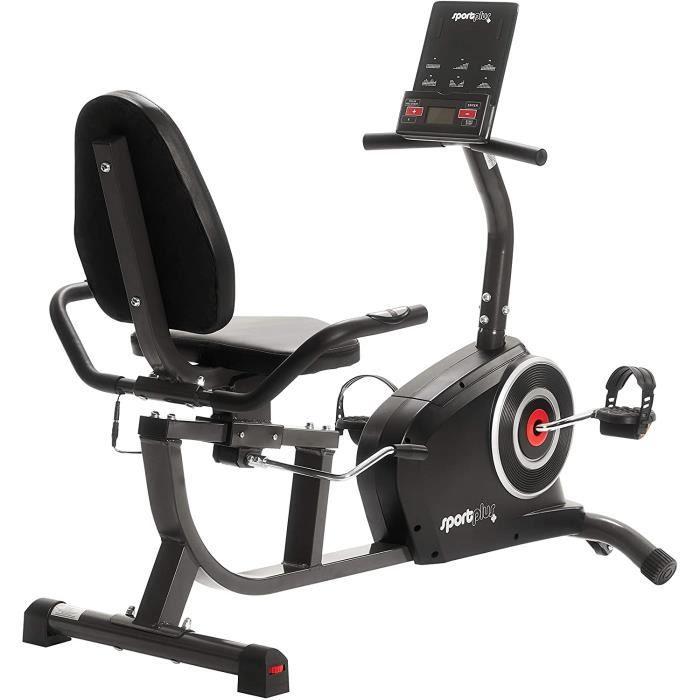 SportPlus SP-HT/RB - Vélo d'Appartement / Ergomètre - Ordinateur de Contrôle Multifonction - Système de Freinage Magnétique Haute Pe