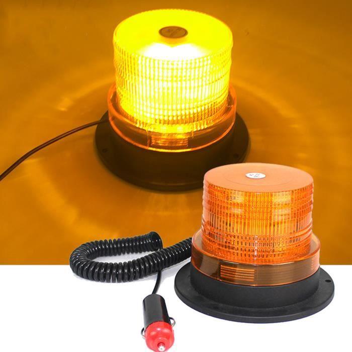 Gyrophare Orange LED, phare d'avertissement clignotant magnétique pour véhicule