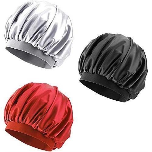 Bonnet de Nuit en Satin Bonnet de Nuit Bonnet de Cheveux Longs Bonnet de Nuit Bonnet de Bonnet pour Femmes Filles (30cm)