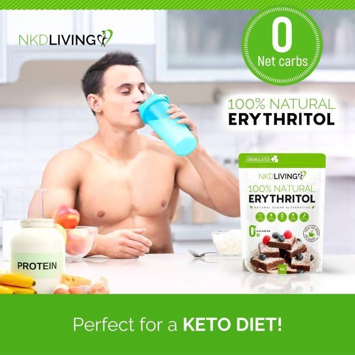 100% érythritol naturel, 1 kg - Granulé substitut au sucre avec ZÉRO calorie