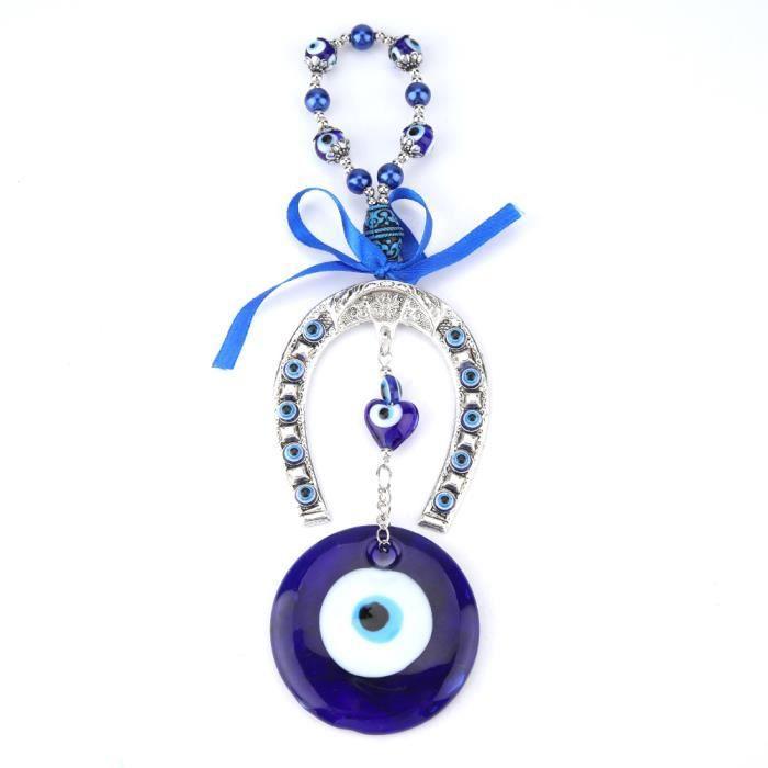 YOSOO Pendentif mauvais œil Turc bleu mauvais œil bénédiction amulette tenture murale décor à la maison protecteur musulman