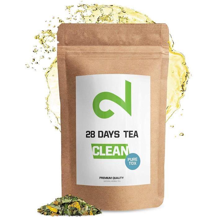 28 Days Detox Tea-Thé Amincissant Infusion pour Perte de Poids de Graisses-Thé Purifiant-Tisane Détoxifiante-Complément Ali