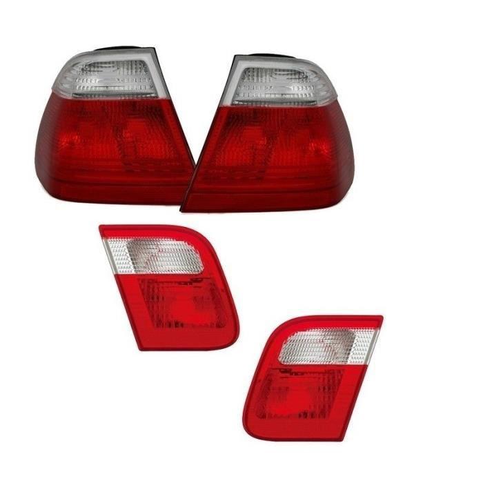 2 FEUX ARRIERE + FEUX DE COFFRE BMW SERIE3 E46 BERLINE PHASE 1 TYPE M3 LOOK PACK M