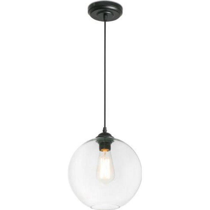 Suspension boule en verre transparent diamètre 27cm Clara