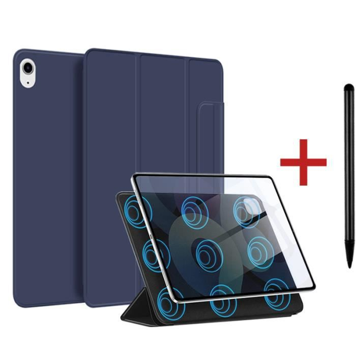 Coque iPad Air 4 2020 [ +Stylet ] Aimant Puissant Rassurant Magnétique Réveil/Sommeil Automatique Housse Case - bleu foncé