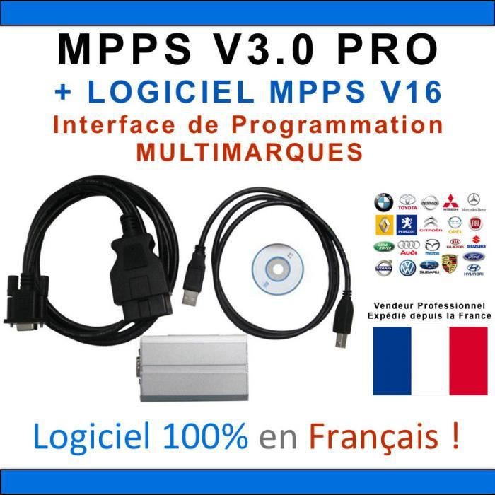 ★ EXCLUSIVITE ★ Interface MPPS V3.0 PROFESSIONNEL + Logiciel MPPS V16 Flash by Mister Diagnostic®