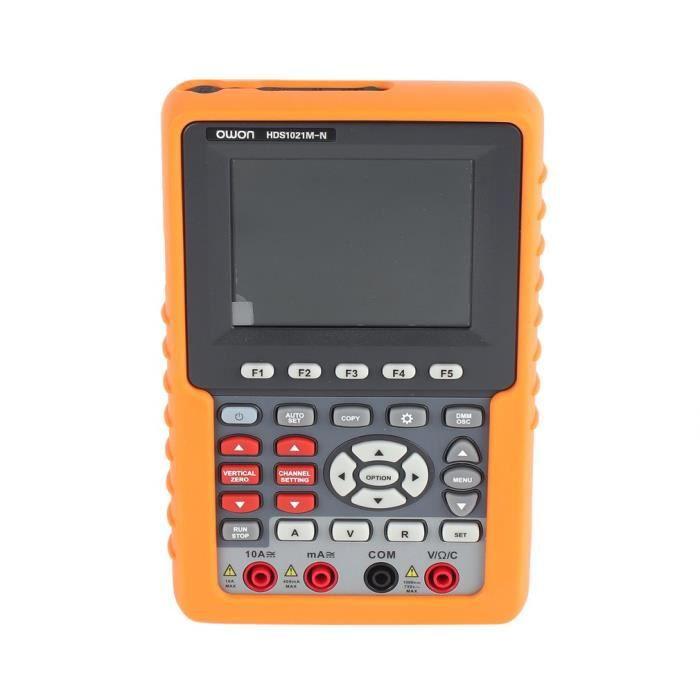 2 en 1 HDS1021M-N Multimètre, Oscilloscope, mini-oscilloscope numérique de poche, bande passante 20 MHz,taux d'échantillonnage 500 M