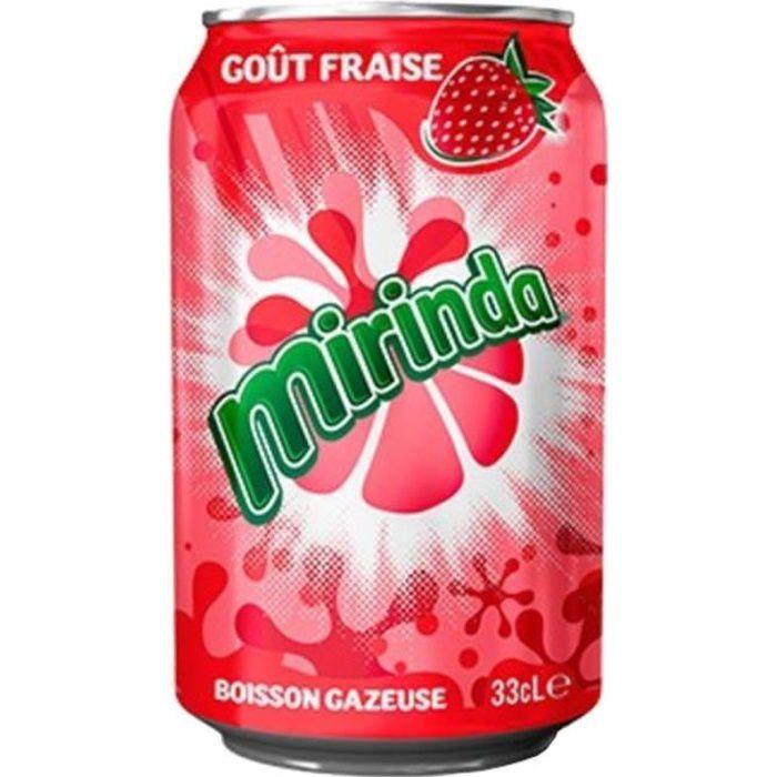 Mirinda Fraise 33cl (pack de 24)
