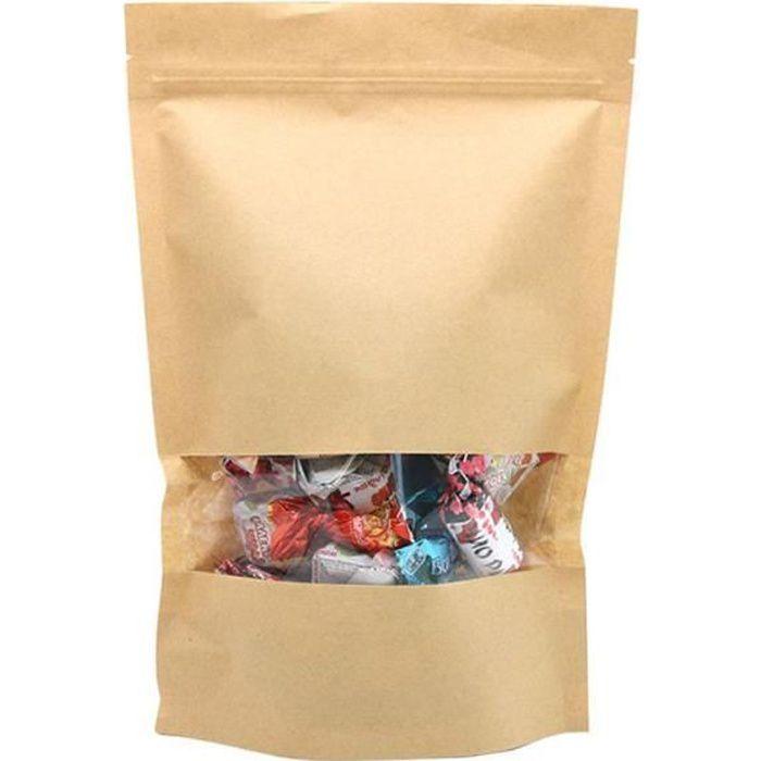 Sachet Papier Kraft Alimentaire Imperméable Enveloppe Emballage Résistant Paquet Biodégradable