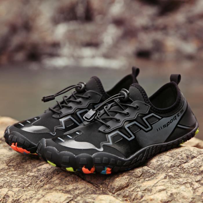 Chaussures des sandales De randonnée pour homme femme Sport Chaussures De Montagne Plein Air Noir