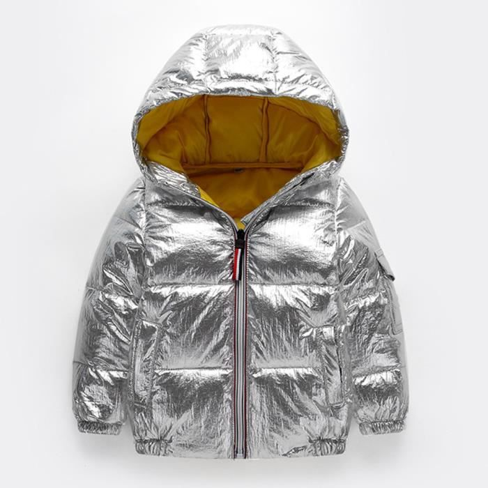 Enfants Fille Garçons Bébé Manteaux Imperméables Veste Zipper Épais À Capuche Survêtement 110