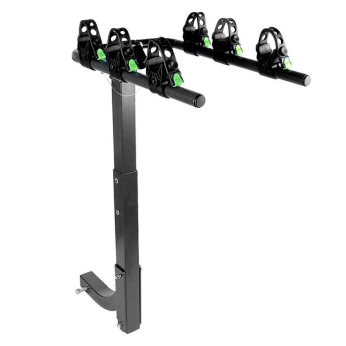 Porte-vélos réglable pour voiture à montage durable Porte-bagages de vélo Cadres de arrière pour 3 VELO ASSISTANCE ELECTRIQUE