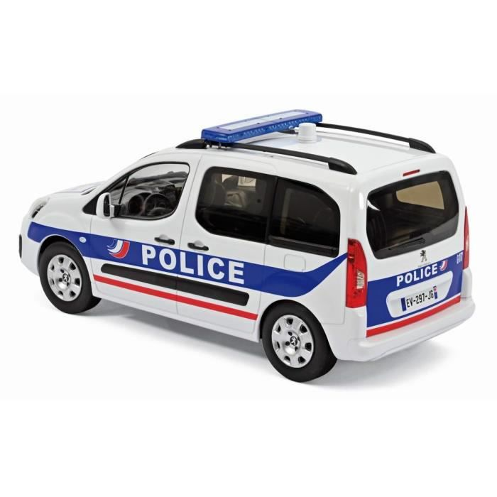 PEUGEOT Partner 2017 POLICE NATIONALE Voiture de Collection 1/18 NOREV