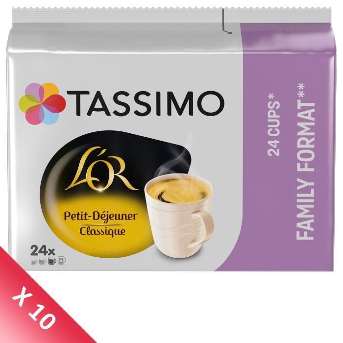 TASSIMO Café dosettes L'Or Petit Dejeuner Classique - Lot de 5 x 24 boissons