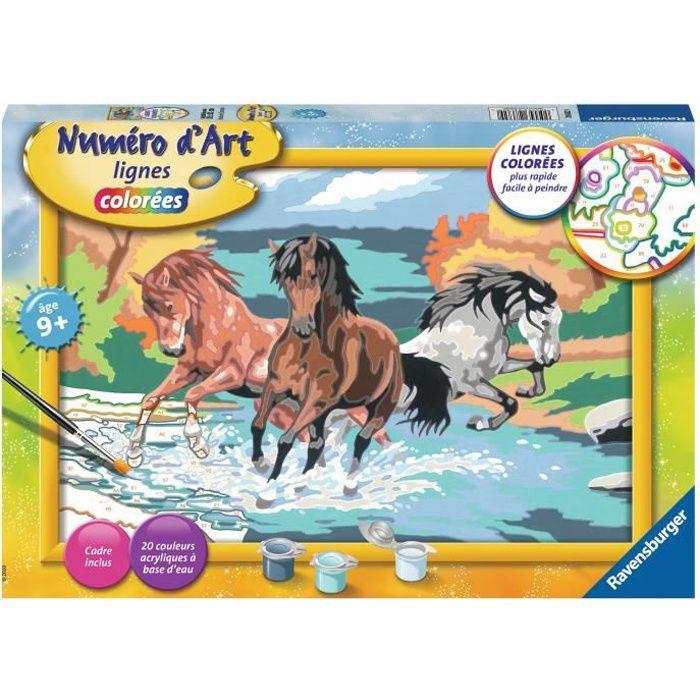 NUMÉRO D'ART Ravensburger Horde de chevaux - Grand format