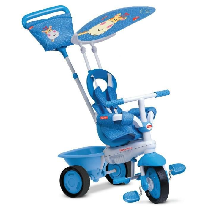 Fisher Price Elite By smarTrike 3-en-1 bébé tricycle évolutif Smart Trike pour enfant - Bleu