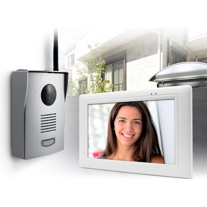 Thomson - Interphone Vidéo sans fil portée 300m max mémorisation visiteurs