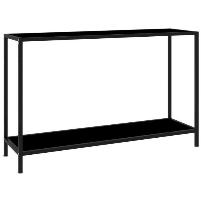 Table console Noir 120x35x75 cm Verre trempé-GXU