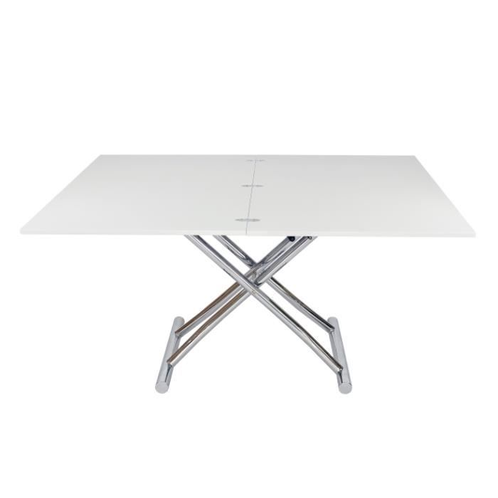 Table basse relevable rallonge blanche 8 personn achat for Table basse relevable avec rallonge