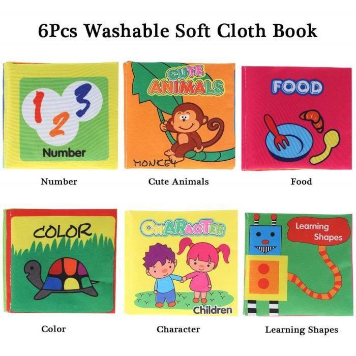 Livre Bebe Chiffon Doux Adapte Pour 3 Mois A 3 Ans Les Enfants Environ 11 10 Cm Set Of 6 Version Anglaise
