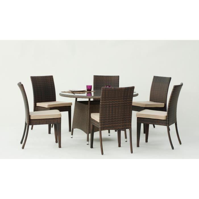 137 table et chaises de jardin en resine tressee salon de jardin en r sine tress e 6 chaises. Black Bedroom Furniture Sets. Home Design Ideas