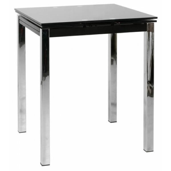Table de bar moderne noire avec allonges 74cm meuble house for Achat table bar