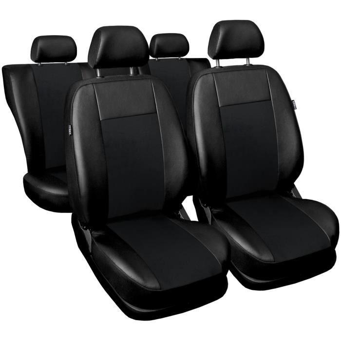 sur mesure PREMIUM PR2 Noir - Jeu de housses de sieges pour: Dacia Sandero II - 2012-/….