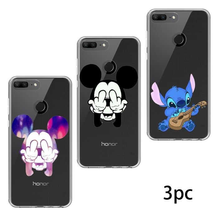 coque pour huawei honor 9 lite 3pc disney mickey sch ma souple premium tpu gel silicone achat. Black Bedroom Furniture Sets. Home Design Ideas