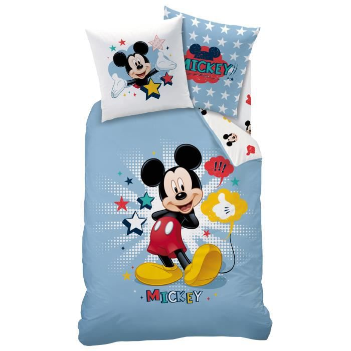 housse de couette mickey et ses amis achat vente. Black Bedroom Furniture Sets. Home Design Ideas