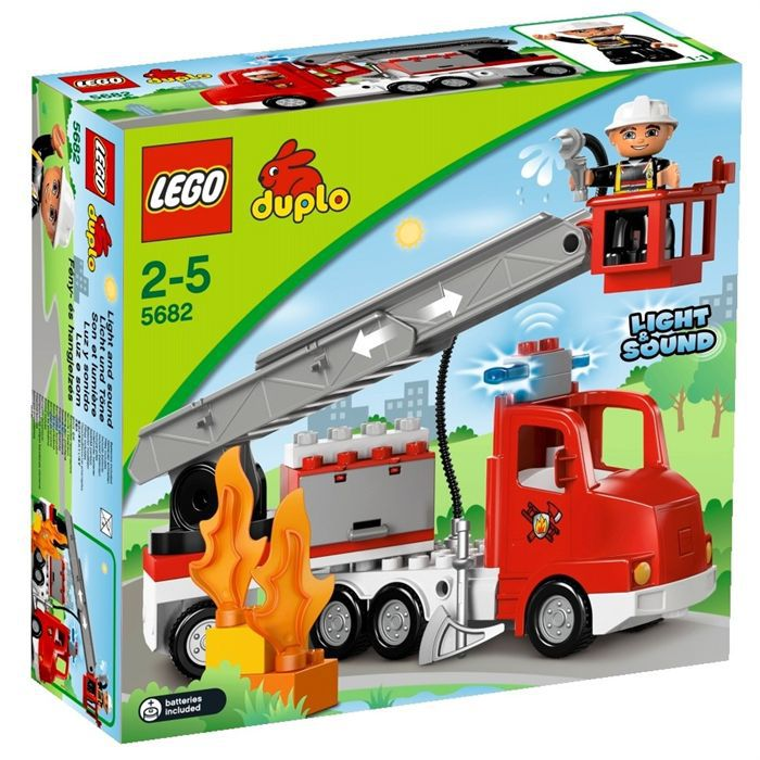 duplo le camion des pompiers achat vente assemblage. Black Bedroom Furniture Sets. Home Design Ideas