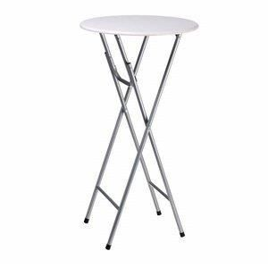 Table haute ronde pliante bar jardin salon achat vente for Table ronde de bar