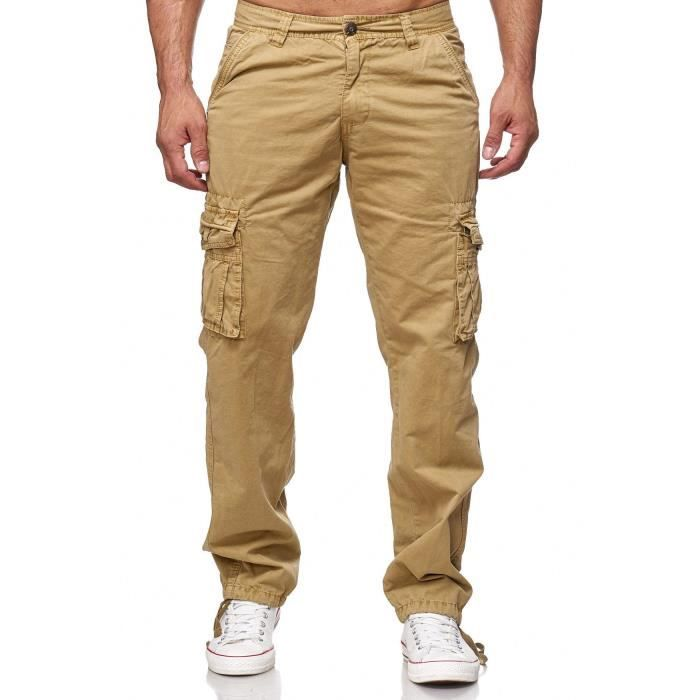 Hommes Cargo Jeans Loose Fit Chino Pantalon cargo Pantalon travail Indy Jones